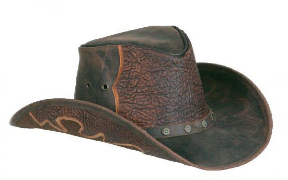 9d5fdcb02e5 Kožený klobouk Comancheros Wooden